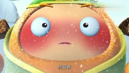 果宝特攻:花果山第二层真是太冷了,陆小果连鼻涕都被冻住了!