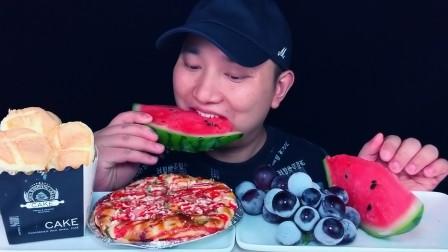 吃冰冻葡萄,冰冻西瓜,培根披萨,爆浆蛋糕,听不一样的咀嚼音!