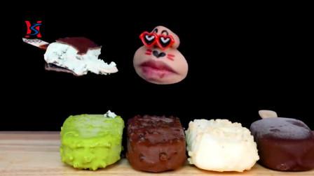 韩国吃播声控脆皮巧克力、冰淇淋一次吃痛快,甜美可口透心凉