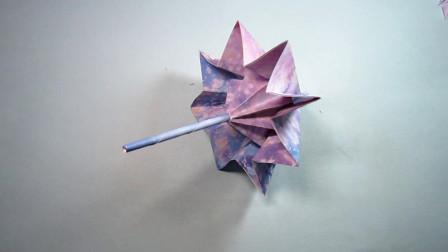 手工折纸小花伞,简单易学还超漂亮