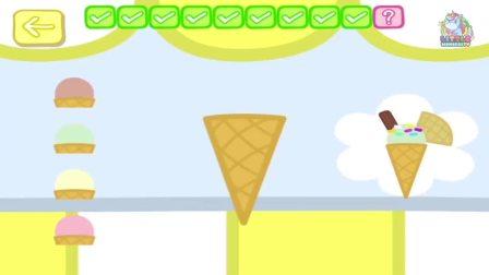 制作冰淇淋的人物完成啦 得到五星奖励哦 小猪佩奇游戏
