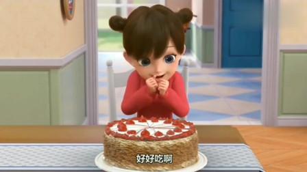 短腿小柯基:吃个蛋糕那么多事,狗狗都崩溃了,真是太惨了