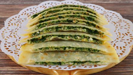 韭菜盒子新吃法,皮薄馅大还好吃,操作简单省时间,鲜香味美