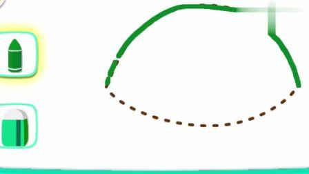 宝宝巴士少儿动画片:海龟先生在哪里,用神奇的画笔画出来吧