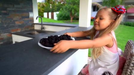 国外儿童时尚,快来,和小萝莉一起做冰激凌吧