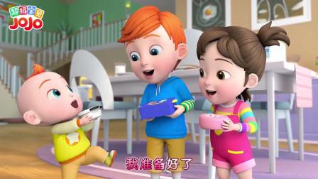 超级宝贝:我会做正方形草莓蛋糕
