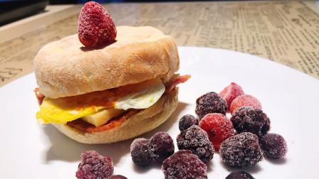 英式Muffin培根芝士蛋三明治