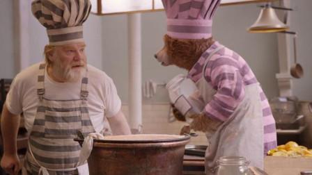 帕丁顿熊:小熊帕丁顿太萌了,白糖用完,还记得把罐子舔干净!