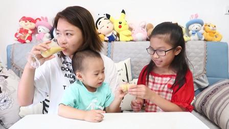 2岁宝宝的幸运盲盒,开出孩子饮品神器,以后香蕉奶昔在家就能做