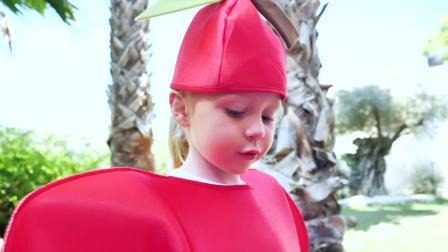 国外儿童时尚,爸爸开冰激凌店,小萝莉来帮忙