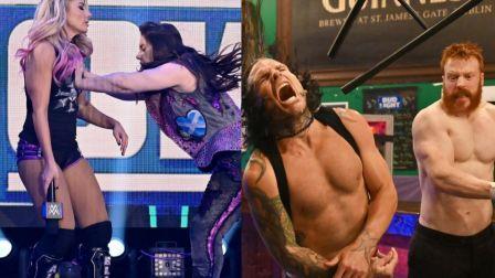 【WWE SD 7/25】AJ洲际冠军挑战者敲定!杰夫希莫斯酒吧激烈大战!