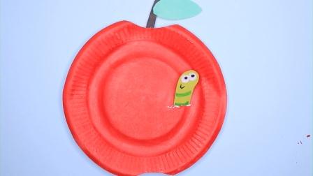 飞童亿佳儿童创意手工 红红的大苹果 纸盘手工