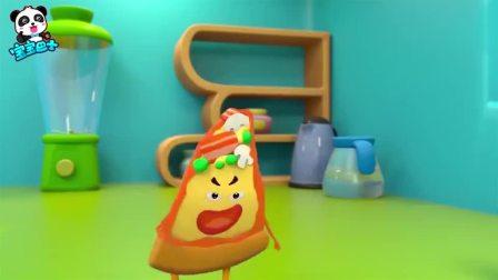《宝宝巴士美食总动员》汉堡联盟薯条们的游乐园被小坏蛋披萨抢了