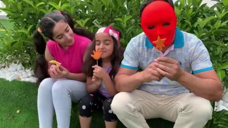 国外儿童时尚,小萝莉姐妹想吃彩色冰淇淋,孩子们最终能吃到吗