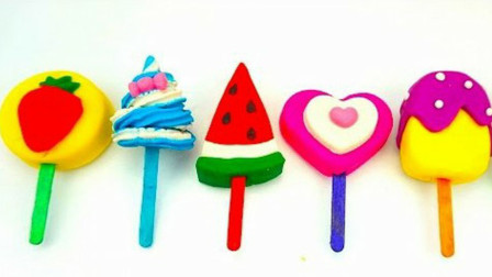 培乐多彩泥创意DIY水果冰淇淋儿童玩具,儿童色彩激发宝宝想象力