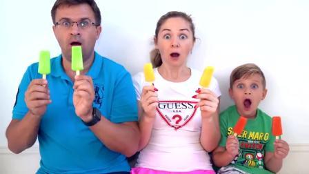 国外儿童时尚,冰淇淋太美味了,太棒了