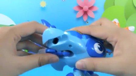 猪猪侠深海小英雄合体变形玩具,魔鬼鱼海龟大白鲨海星和虎鲸