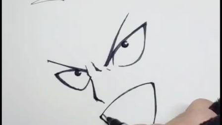 手绘动漫人物一拳超人。