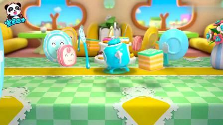 宝宝巴士:妙妙准备下午茶,一桌甜甜圈,还有很多小饼干