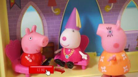 佩佩猪小猪佩奇去面包超人玩具便利店购物的故事