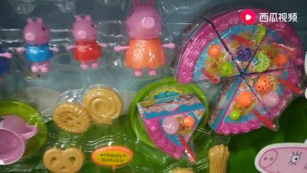 儿童玩具:拼装切切乐蛋糕,小猪佩奇玩具,红头小猪佩奇