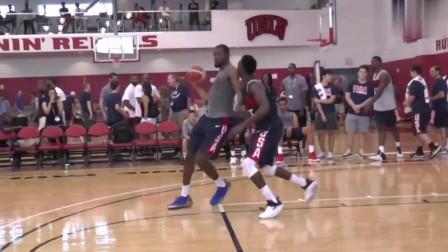 美式篮球单挑,杜兰特毫无悬念夺冠,场下的安东尼看的心里直痒痒