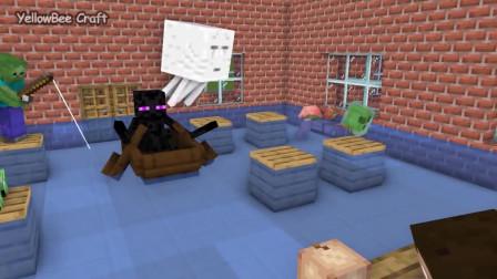 我的世界动画-#怪物学院#-变小宝宝挑战-YellowBee Craft