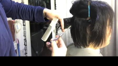 短发修剪教程女发剪发分享
