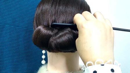 贵气法式盘发教程,简单还好用,手笨照样能扎好发型显气质