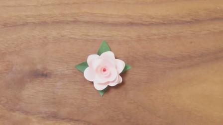 手工剪纸教学,迷你玫瑰花的制作方法!