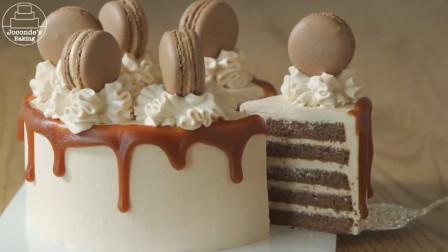巧克力焦糖鲜奶油蛋糕 制作方法 简单易学 在家做起来 饭后甜点