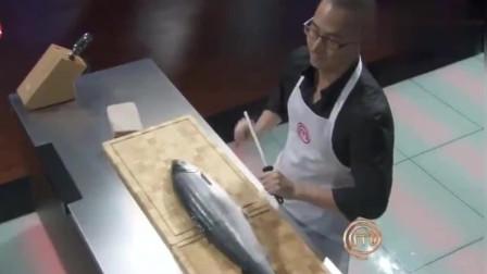 顶级厨师:厨神刘一帆处理三文鱼,完美剔骨!