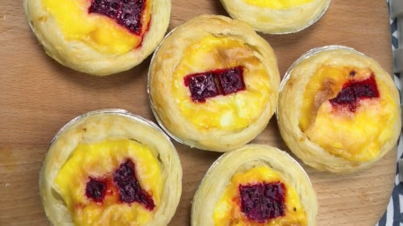 家庭版水果蛋挞的做法,简单易学,外酥里嫩,大人孩子都爱吃