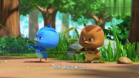 萌鸡小队:朵朵伸出树枝,想要救人,结果却让自己陷了进去!