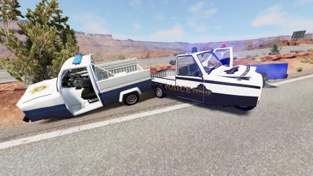 BeamNG:用三蹦子当警车,嫌疑人早开车跑了