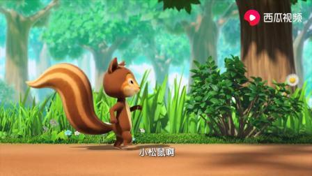 萌鸡小队:金花鼠哥哥真会玩,带来陀螺玩具,还有核桃悠悠球呢!
