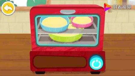 宝宝巴士:蛋糕已经烤好了,可以涂抹奶油了,蛋糕马上完工了(1)