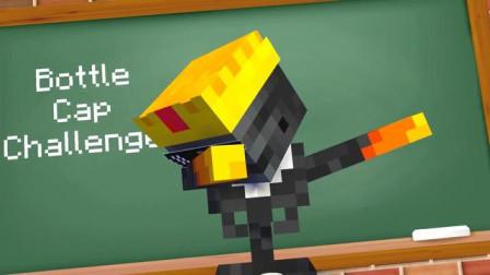 我的世界动画-怪物学院-踢瓶盖-XDMine