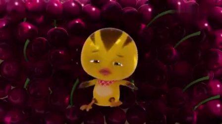 萌鸡小队:麦齐藏在樱桃里,走了还不忘拿东西,想给妈妈吃!(1)