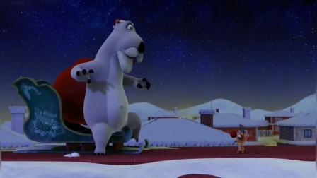 贝肯熊:圣诞节倒霉熊给企鹅送圣诞礼物,结果把自己送了进来