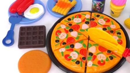 橡皮泥玩具DIY粒软糖果 西餐披萨玩具