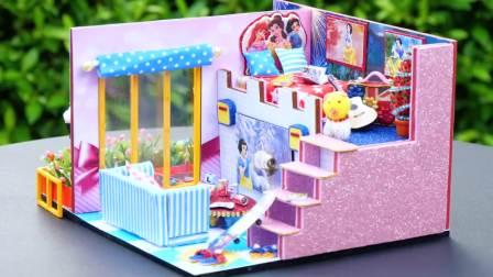 美国萌宝时尚,DIY制作迷你小屋,给你一个可爱的小家园!