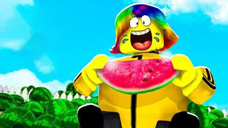 Roblox水果模拟器!收割美味西瓜度过凉爽暑假!面面解说