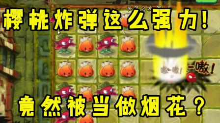 植物大战僵尸:樱桃炸弹这么强力 !竟然被当做烟花?
