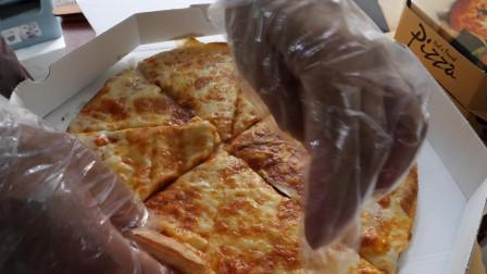韩国街拍美食各种口味的披萨看着就让人流口水太好吃了