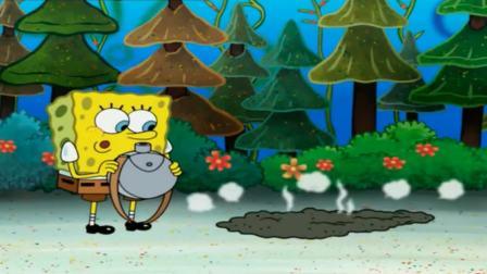 可爱的小海绵:海底也有蚂蚱,可爱的小海绵从没见过