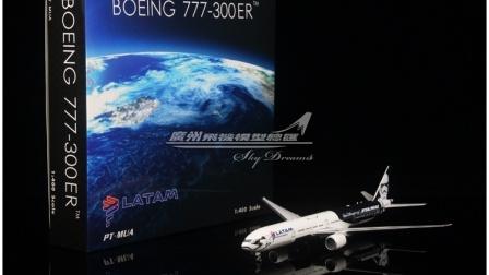 智利拉塔姆航空 LATAM 波音 B777-300ER 星球大战主题乐园彩绘 PT-MUA 1:400