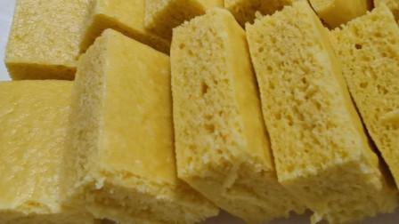 零失败的玉米面发糕,蓬松暄软,不发粘,岀锅抢着吃
