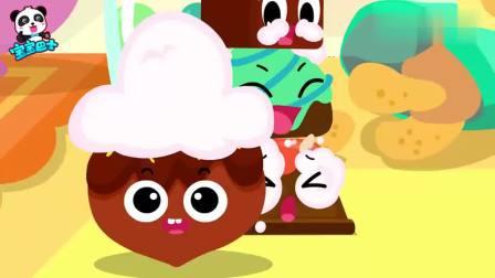 宝宝巴士:巧克力一起玩游戏,击中了爱心型的巧克力呢