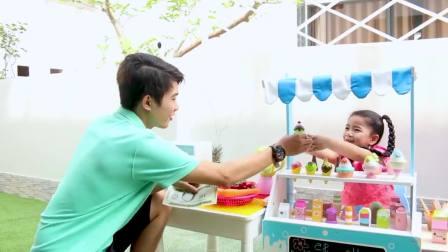 美国儿童时尚,安妮和苏瑞给孩子们卖冰激凌玩具